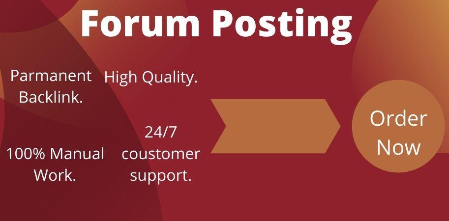 I will do 50 forum posting backlinks on High DA.