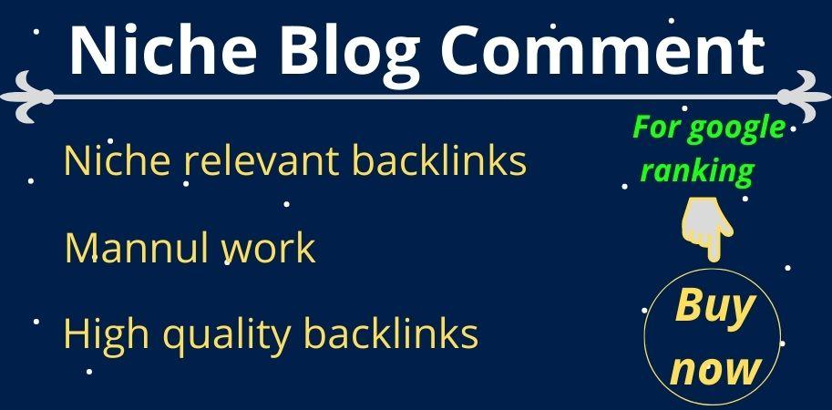 I will provide 60 niche relevant blog comment backlinks