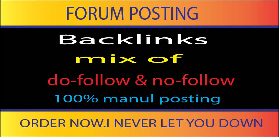 I will Create 50 forum Posting backlinks Best for Your SEO