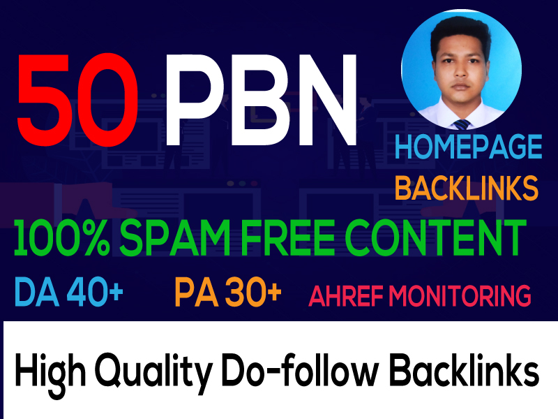 I Can Build 50 Backlink,  web 2.0,  and Dofollow with high DA/PA in your webpage with a unique website