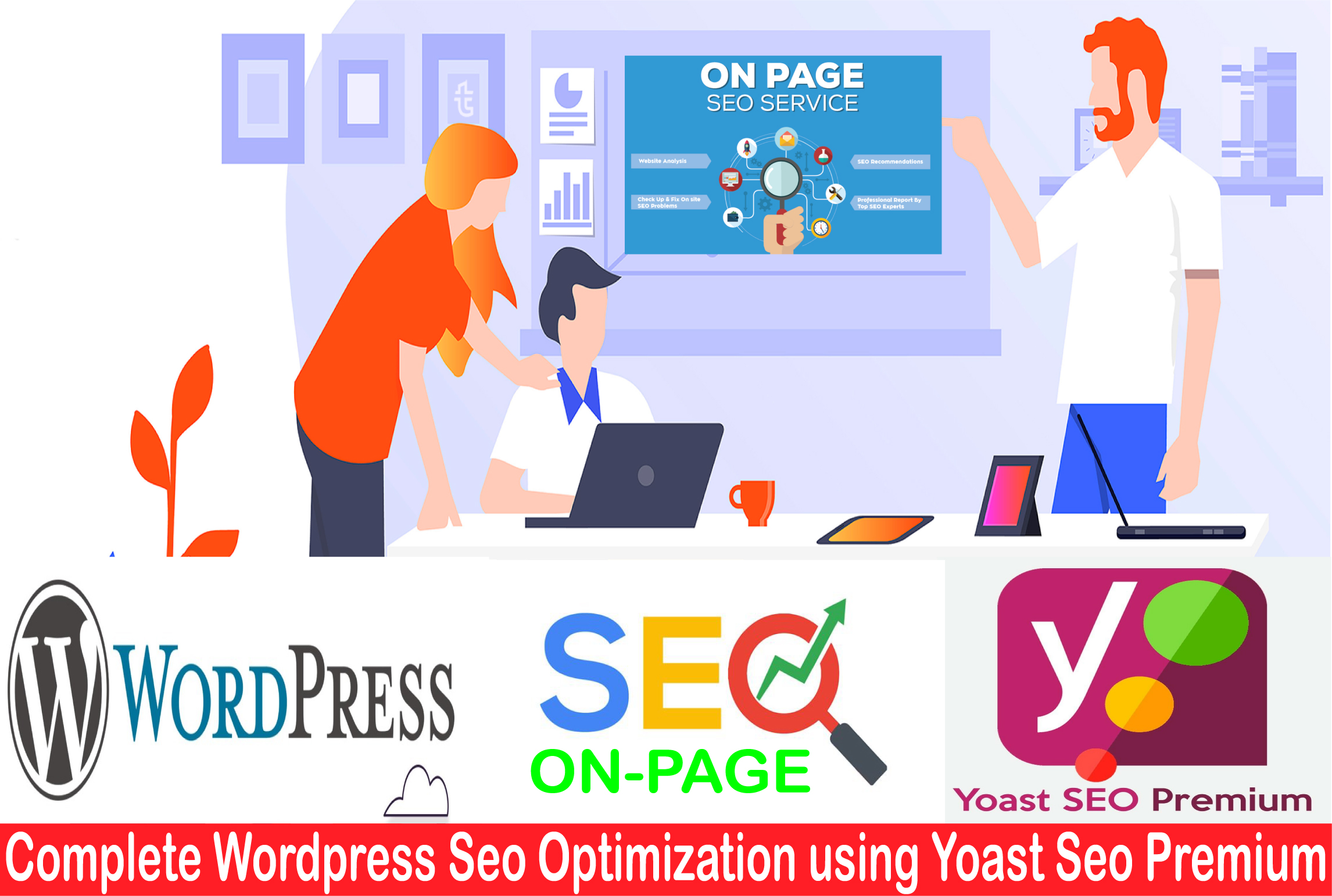 i will do on page WordPress yoast SEO optimization