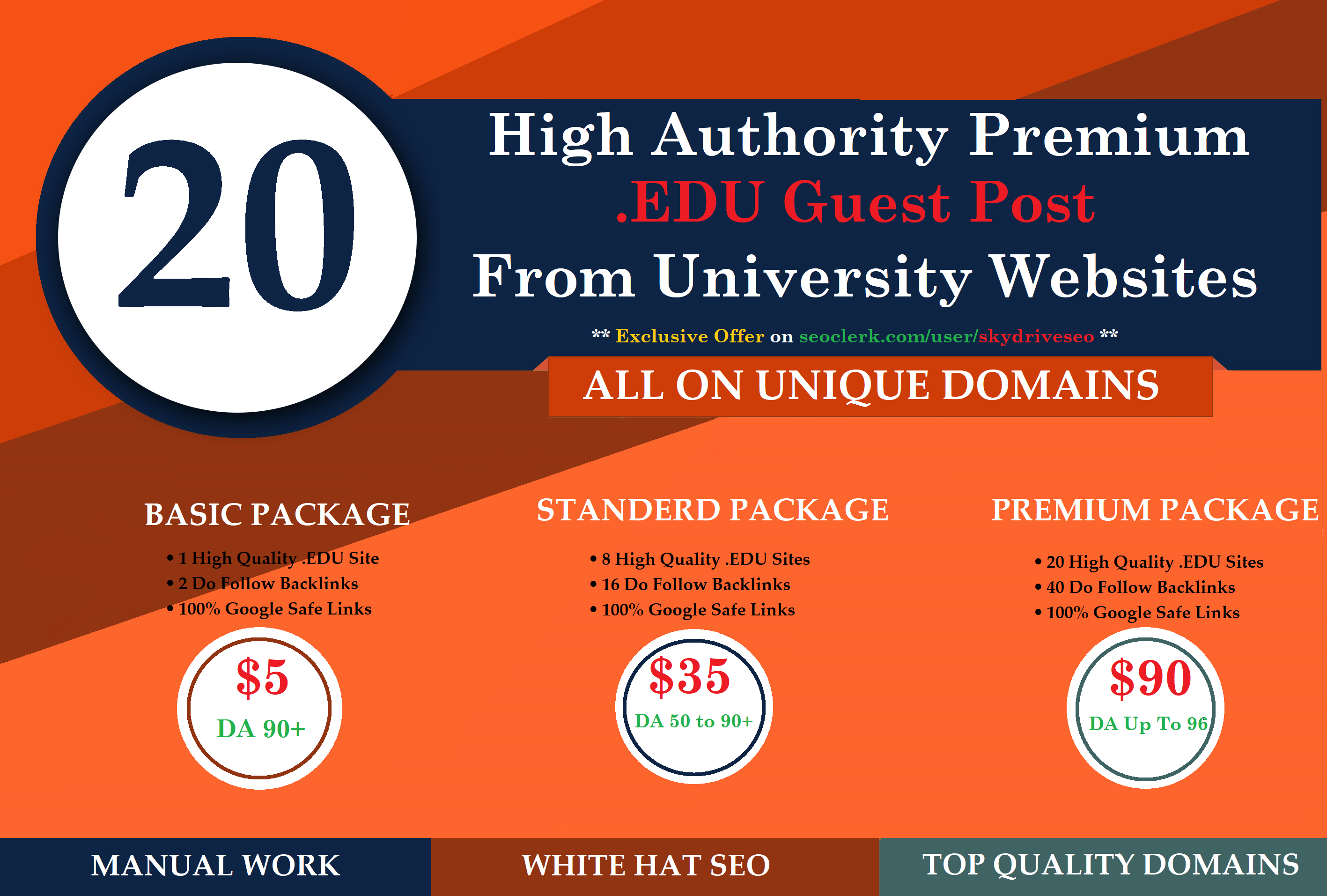 I will Published One Guest Posting on. EDU Website DA 90+ with Dofollow Links