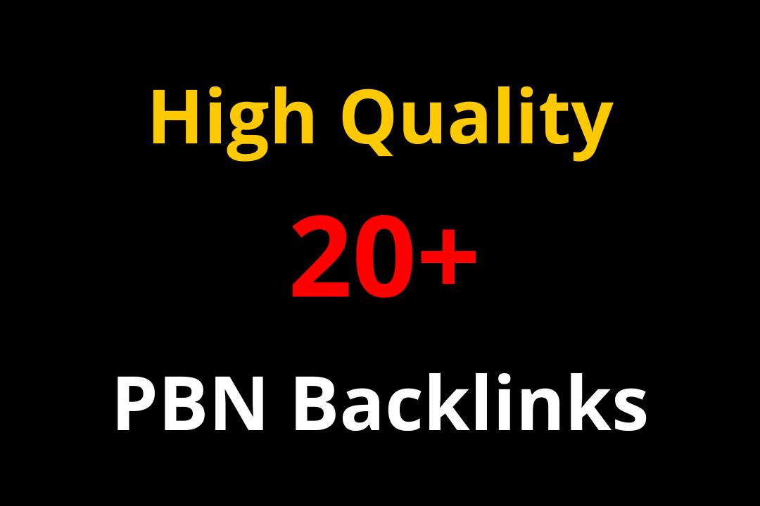 Build 20+ high quality PBN Backlinks