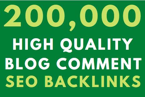 200k GSA blog comment High Authority Backlink on google Ranking