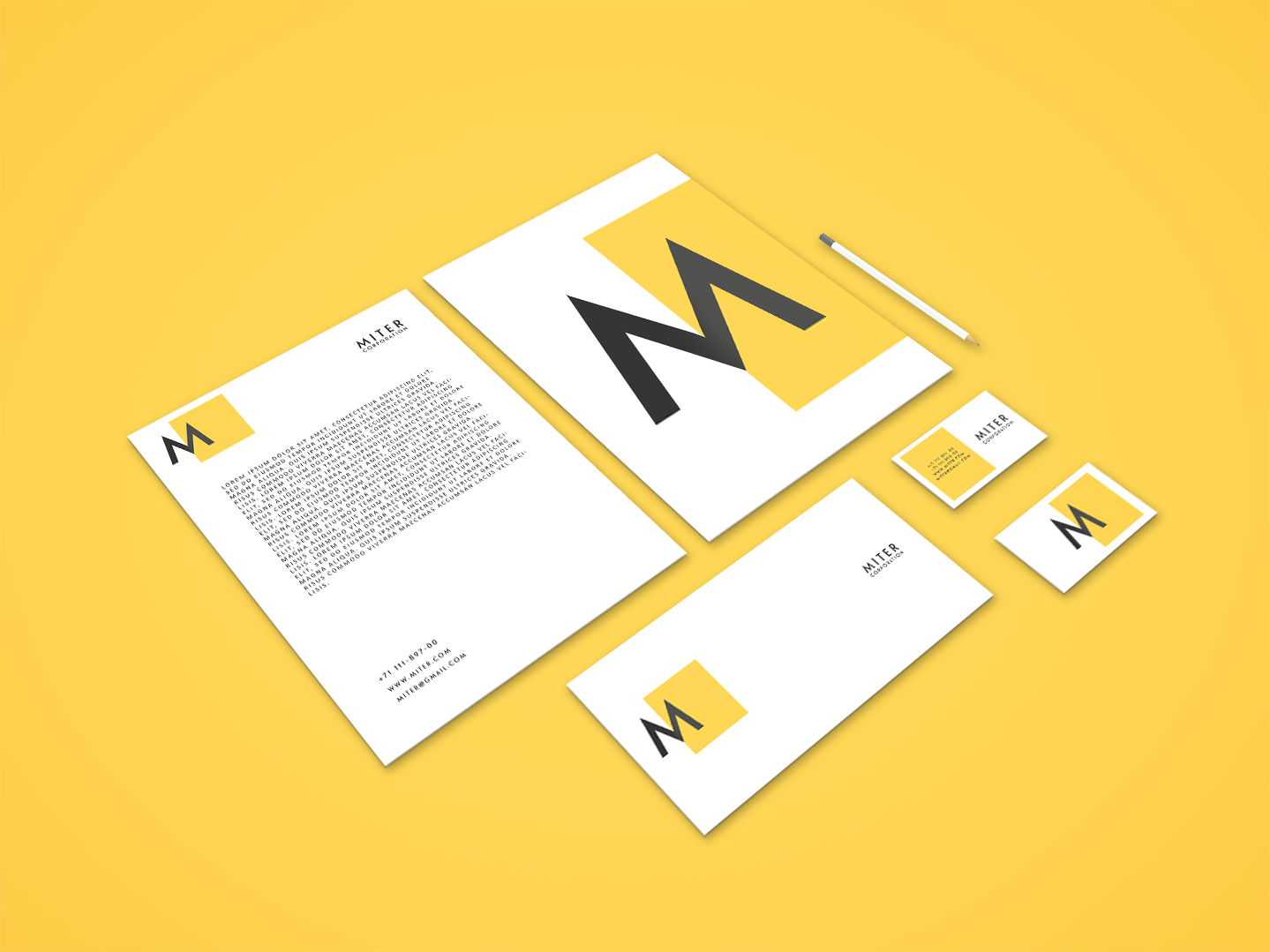 I will design an awesome stationery for you