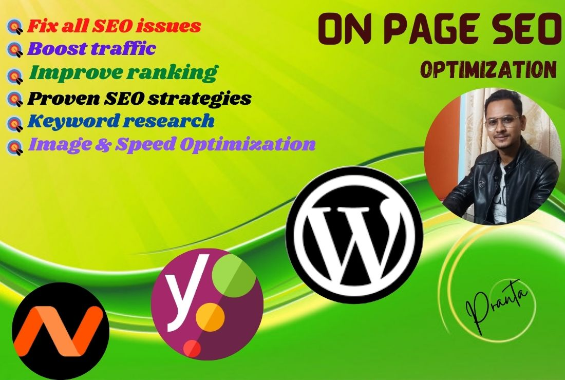 I will optimize On Page SEO on your website for Google rangking