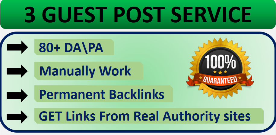 Manually do 3 guest posts on real authority sites