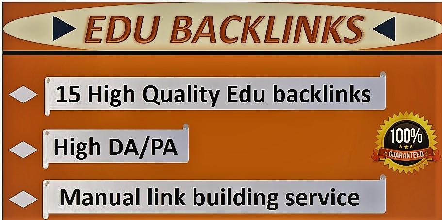 I will provide manually 15 High-Quality Edu backlinks