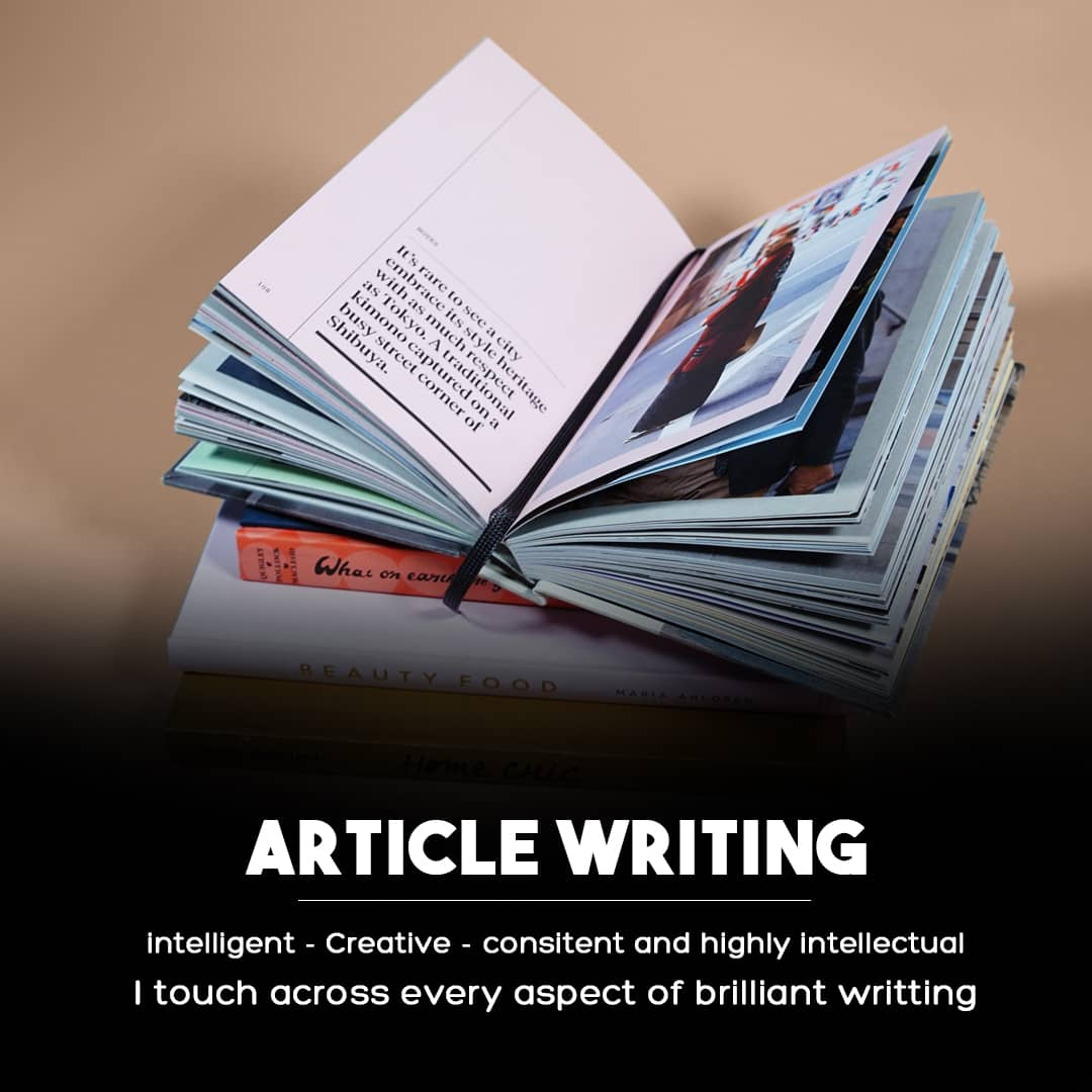 I wIll expertly write 1000+words Article Writing or Content Writing on any topic.