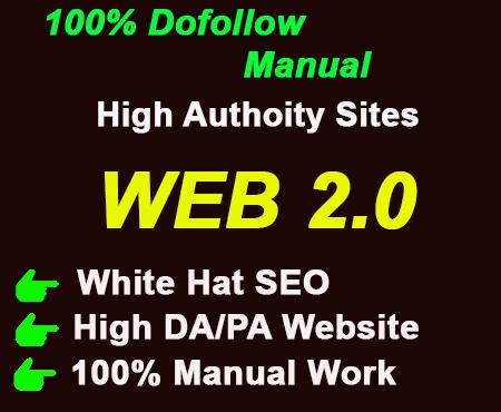 I will Make 50 web 2.0 High quality backlinks