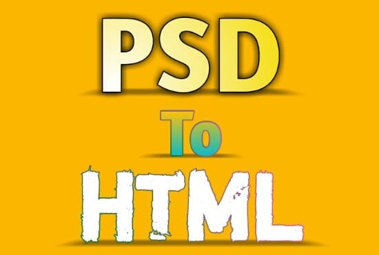 I Will Convert PSD To Html5 Css3 And Responsive with Bootstrap4