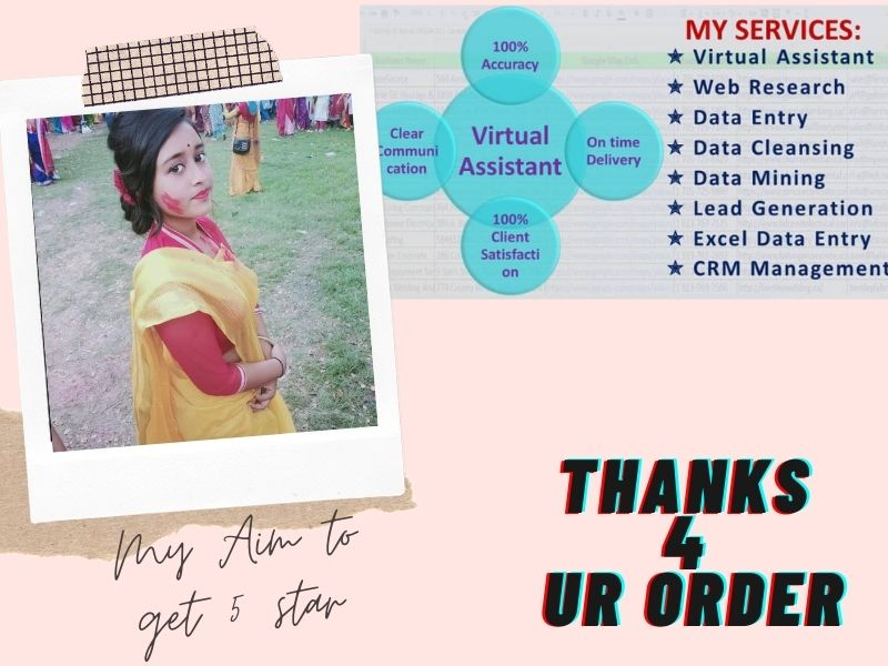 I will do your virtual assistant job to help you on your business
