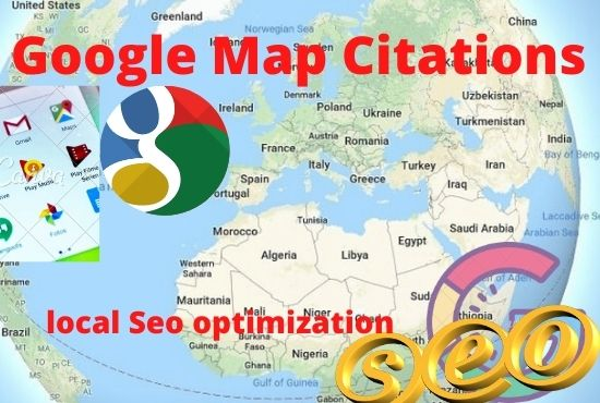 I will create100 google point map citations for local SEO with live link
