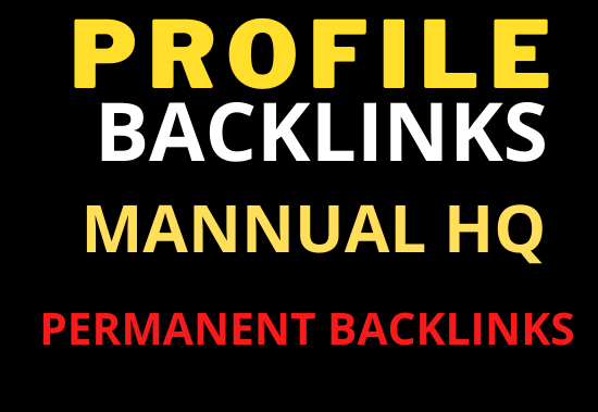 30 Profile Backlinks Permanent relevant and High Quality for