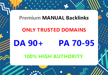 30 Premium Trusted Backlinks DA 90