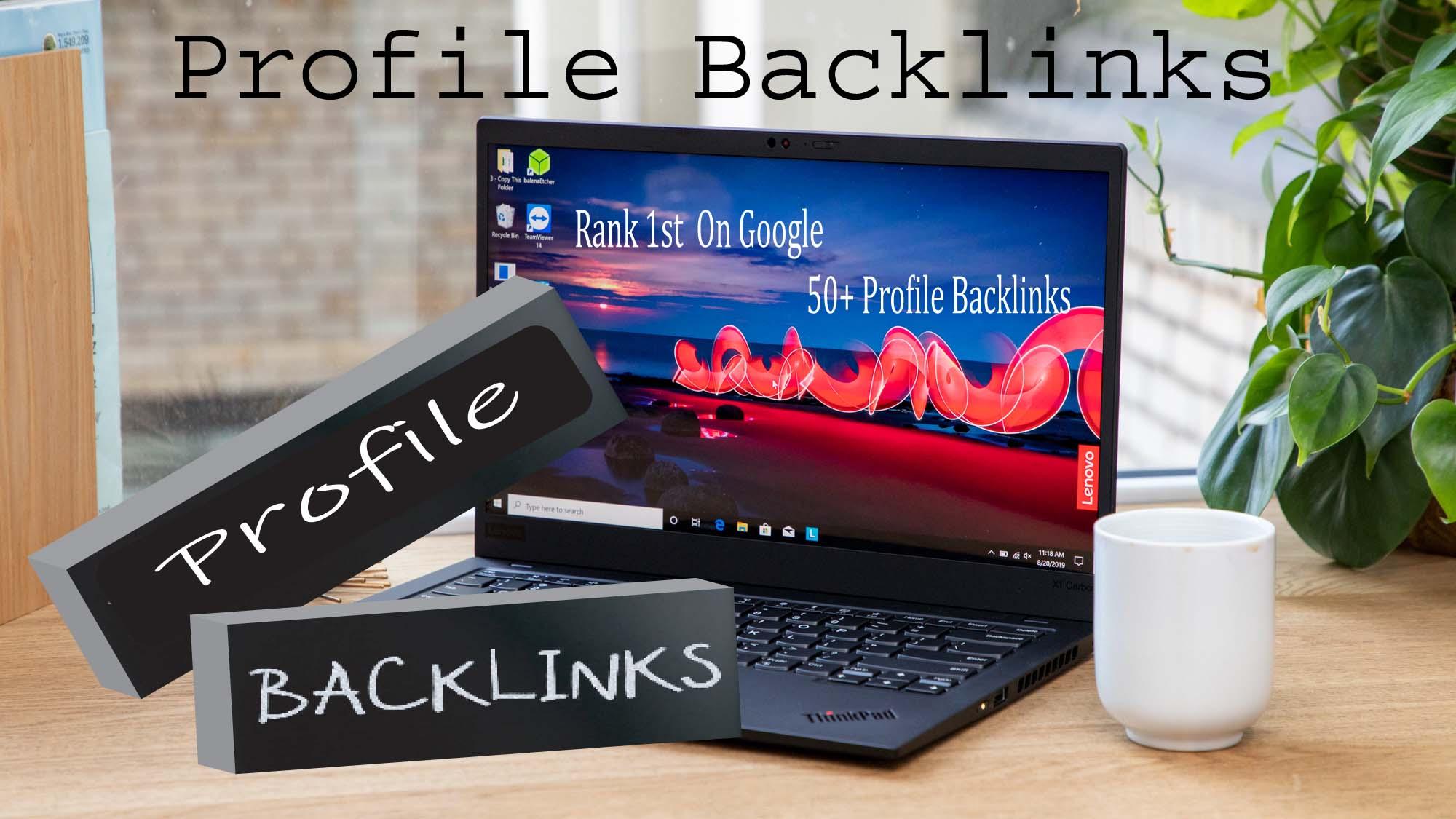 Manual Create 50 High Authority SEO Profile Backlinks Boost Ranking on Google