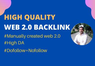 I will create manually 50 high authority web 2.0 backlinks