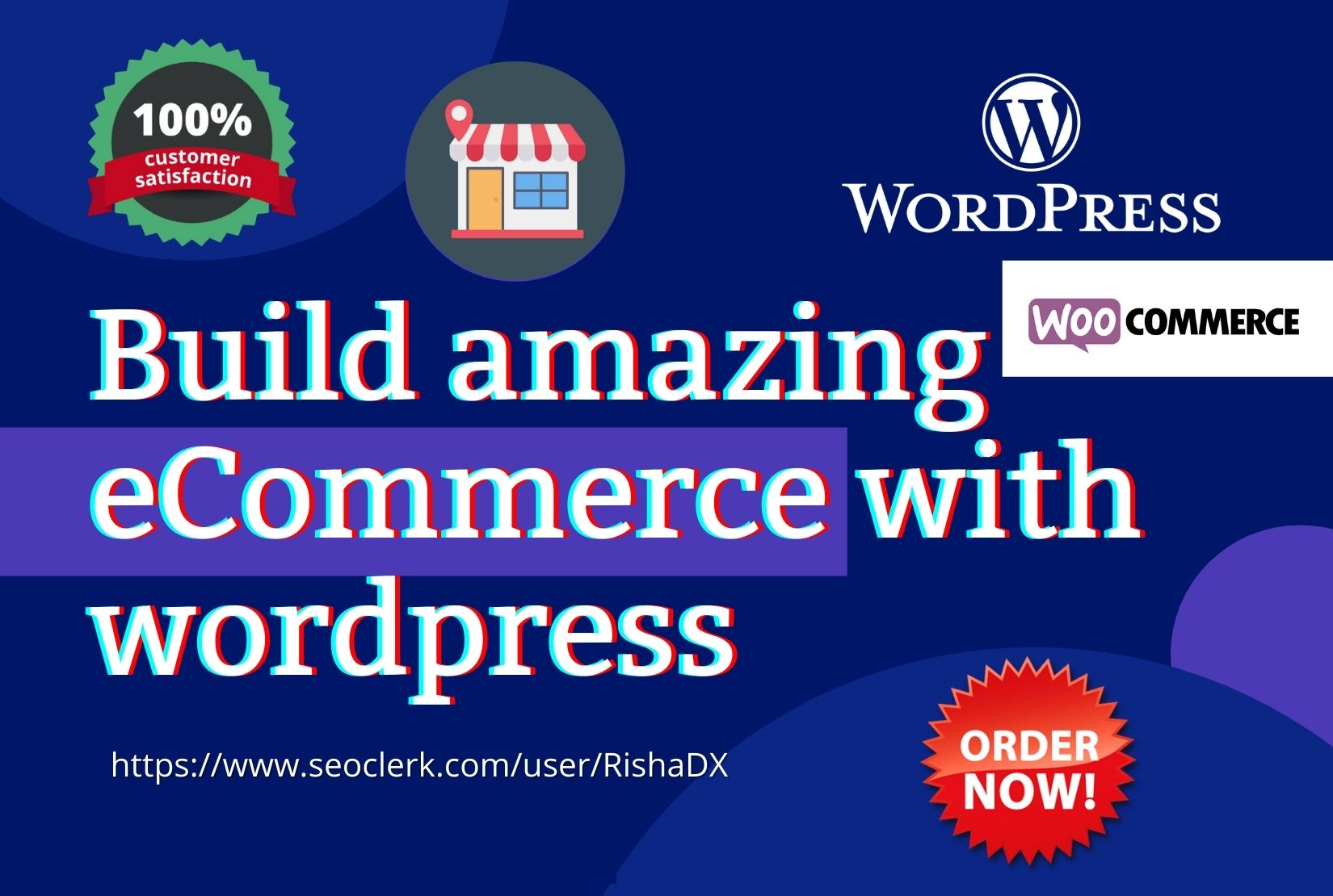I will build wordpress ecommerce website online store using woocommerce