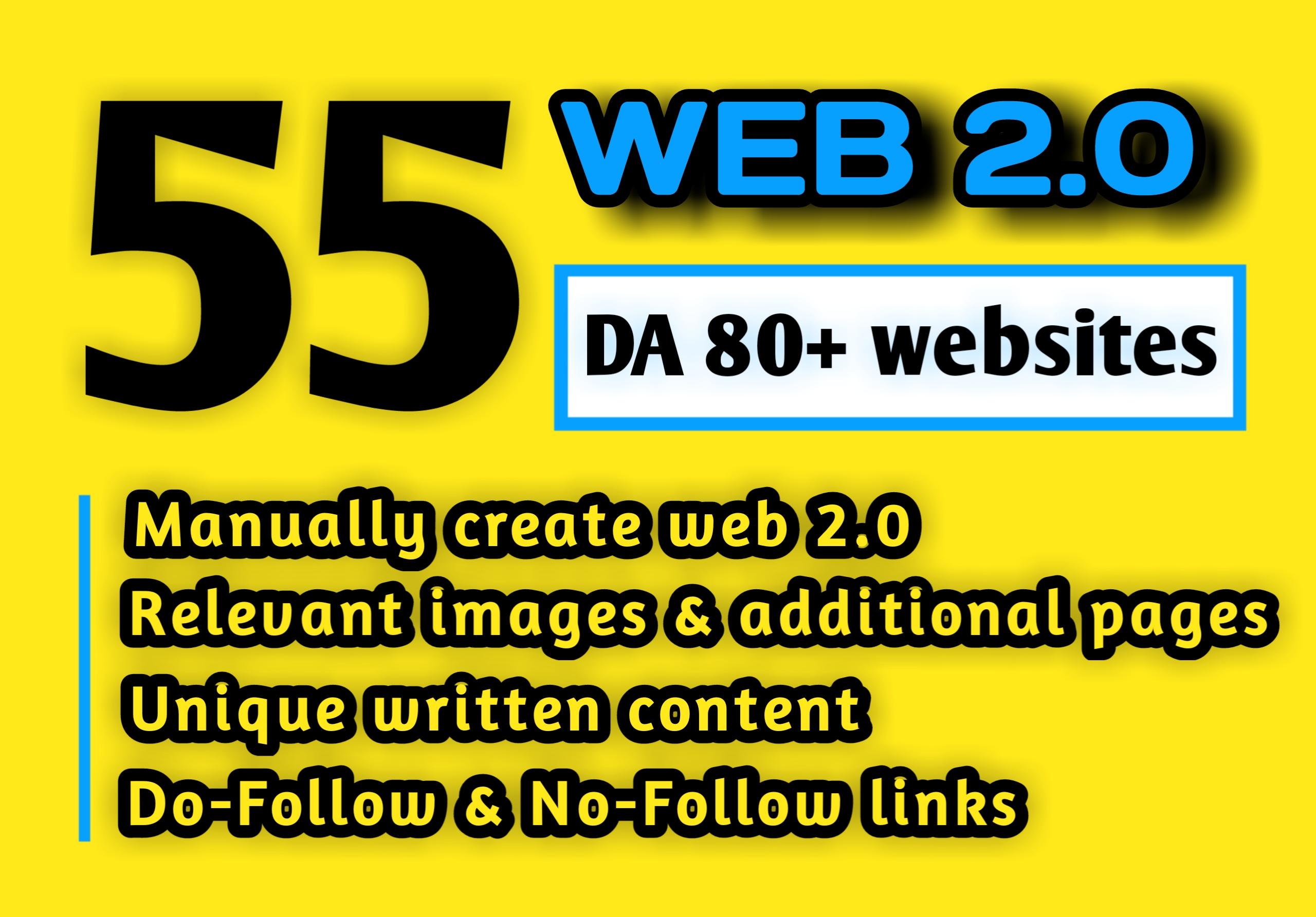 55 HQ DA 80+ WEB 2.0 BACKLINKS