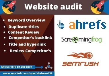 Analysis your website and provide Expert SEO Audit report