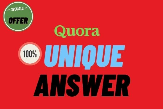 Promote your website with 10 hq Quora answer with backlink