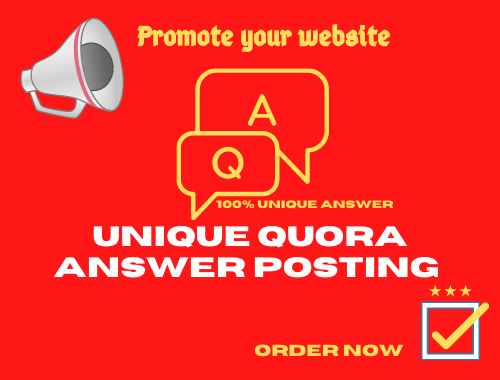 Promote your website with 3 HQ Quora answer including backlink and URL