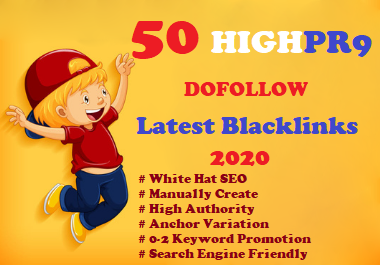 I Will Build Manually 50 High DA 80+ Dofollow Profile Backlinks Creation-2020