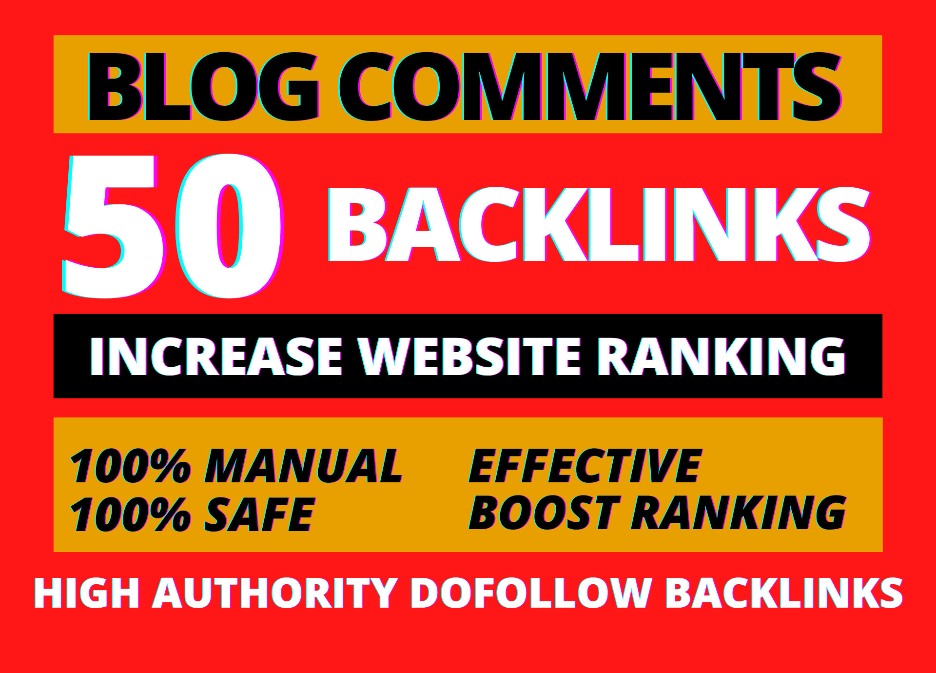 I will build 50 high domain authority Dofollow SEO blog comments