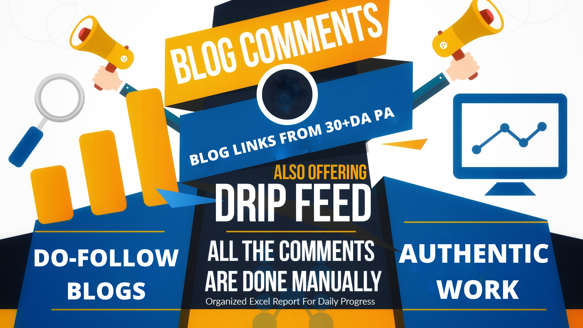 Make 100 High DA SEO Blog Comments Backlinks