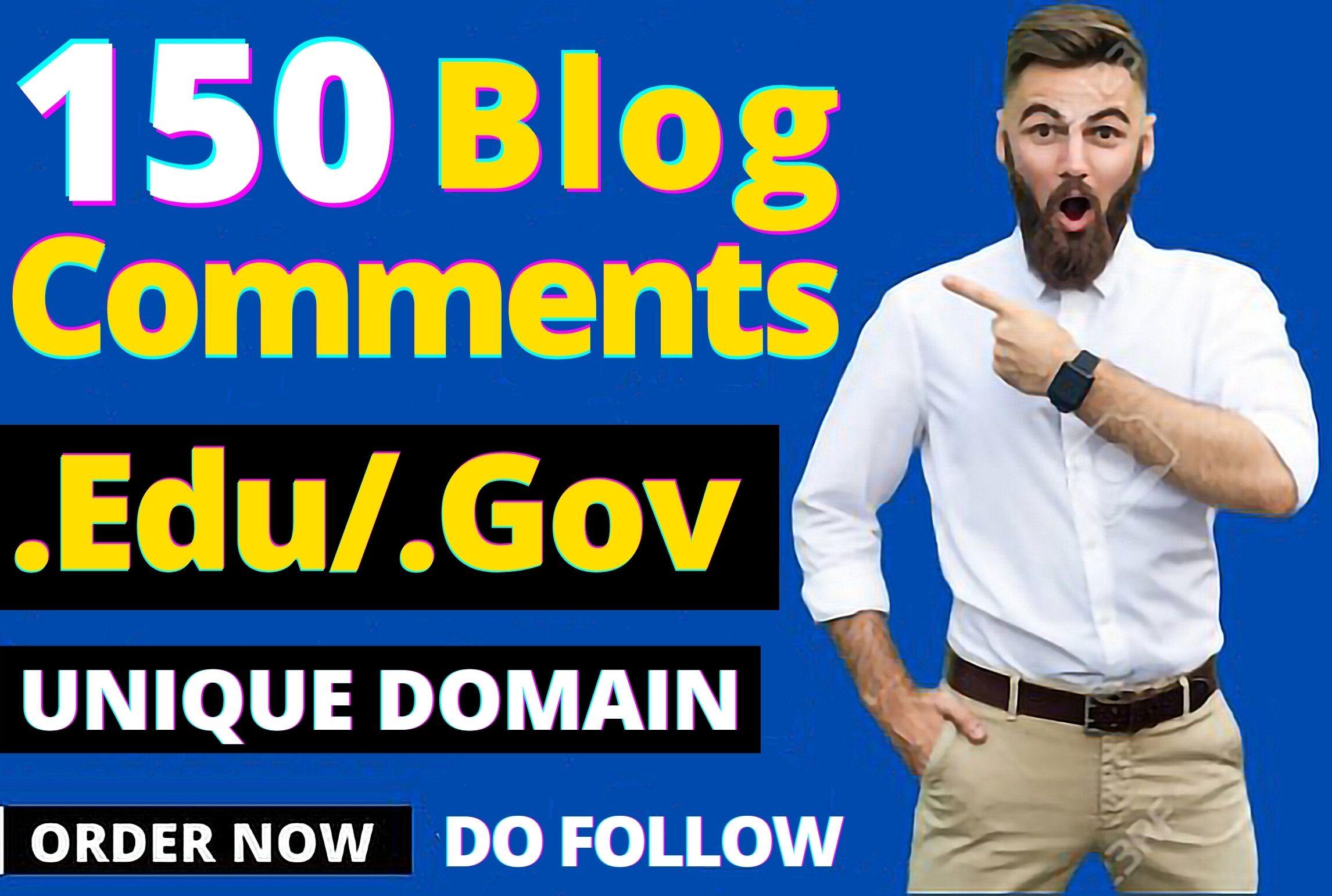 150 Pr9 EDU GOV Blog comments backlinks for SEO google ranking