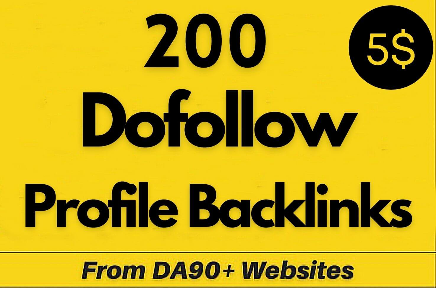 200 Unique HQ Domain Authority Manually Profile Backlinks Create Do-Follow Permanent Link building