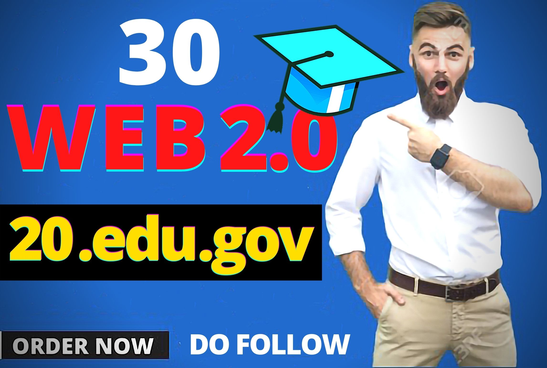 Get 20 dofollow Edu/Gov and 30 web 2.0/Social bookmarks to improve your google ranking page