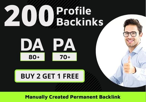 200 Effective High Authority Profile Backlinks
