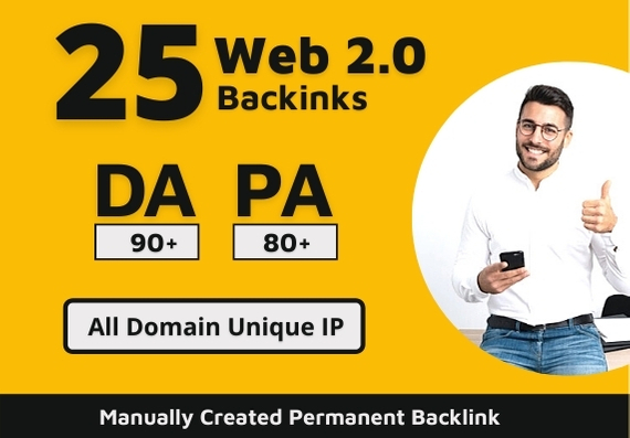 I Will Create Manual 25 HQ Permanent Web 2.0 Backlinks