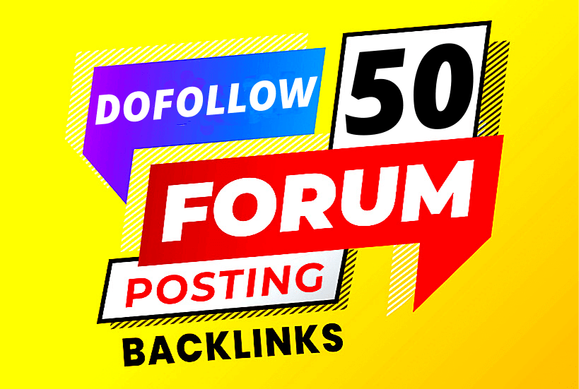 Manually I will create dofollow 50 forum posts high quality seo backlinks