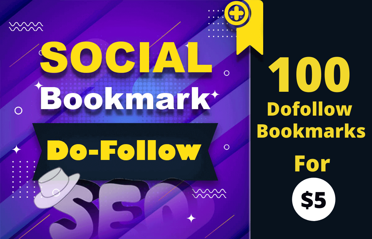 I will do Indexable 100 Social bookmarks dofollow SEO backlinks for google top ranking