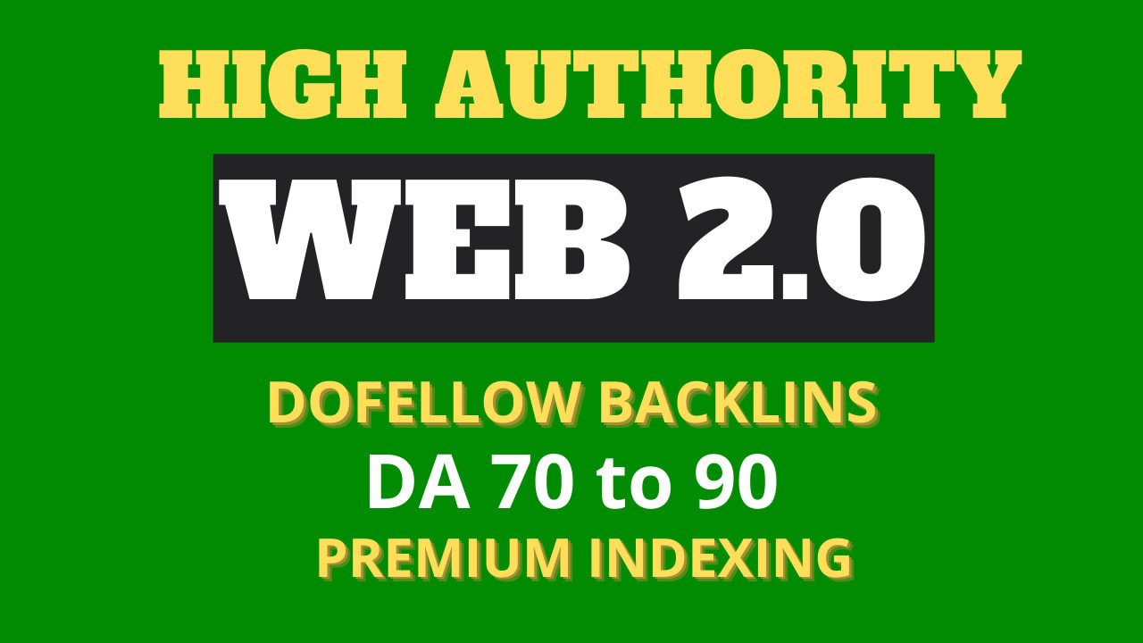 100 Web2.0 Indexable Dofollow Video and Google Map Embded SEO backlinks using all Unique Article