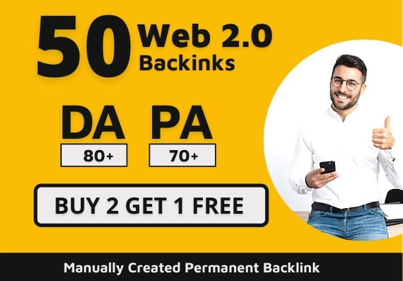 Claim Your 50 HQ Permanent Web 2.0 Backlinks