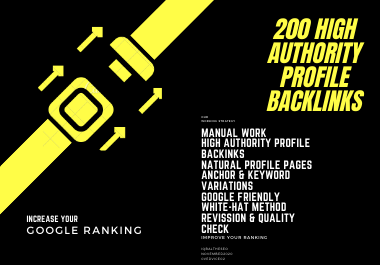 Grab Your 200 High Authority Do-follow Profile Backlinks