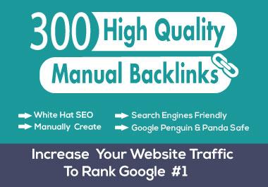 300 High Quality DA 85+, PA 70+ Manually Create Dofollow Profile Backlinks
