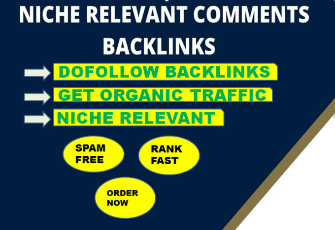 I will create 50 high quality domains niche blog comment backlinks