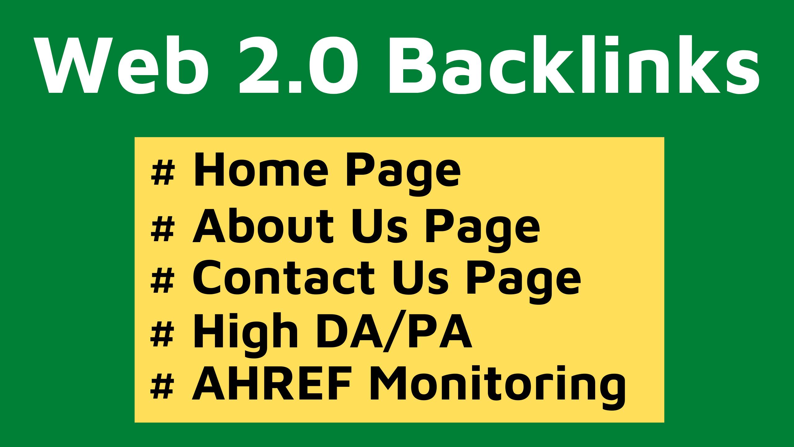 20 Web 2.0 Backlinks Manually Creations 2020