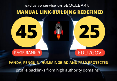 create 80+ DA pr9 45 profile backlink and 25. edu/. gov profile backlink