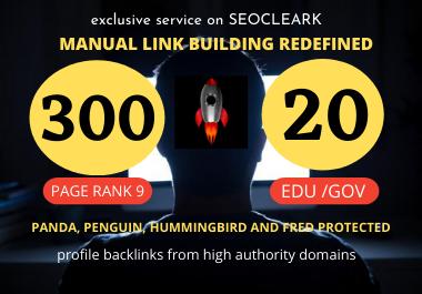 create 80+ DA pr9 300 profile backlink and 20. edu/. gov profile backlink