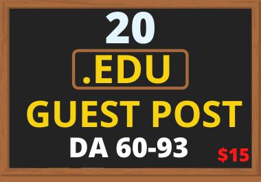 I Will Publish 20 High DA EDU Guest Post on Top Universities