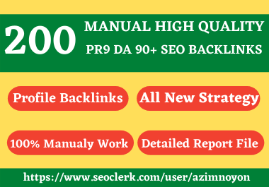 I will create 20 PR 9 high authority seo profile backlinks