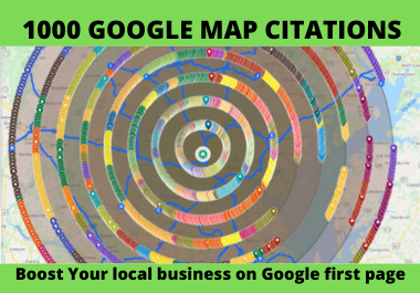 I will do 1000 map citation for local seo and google my business