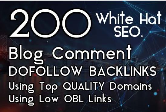 I will Create 200 Dofollow Blog Comments backlinks on high DA 20+ to 100