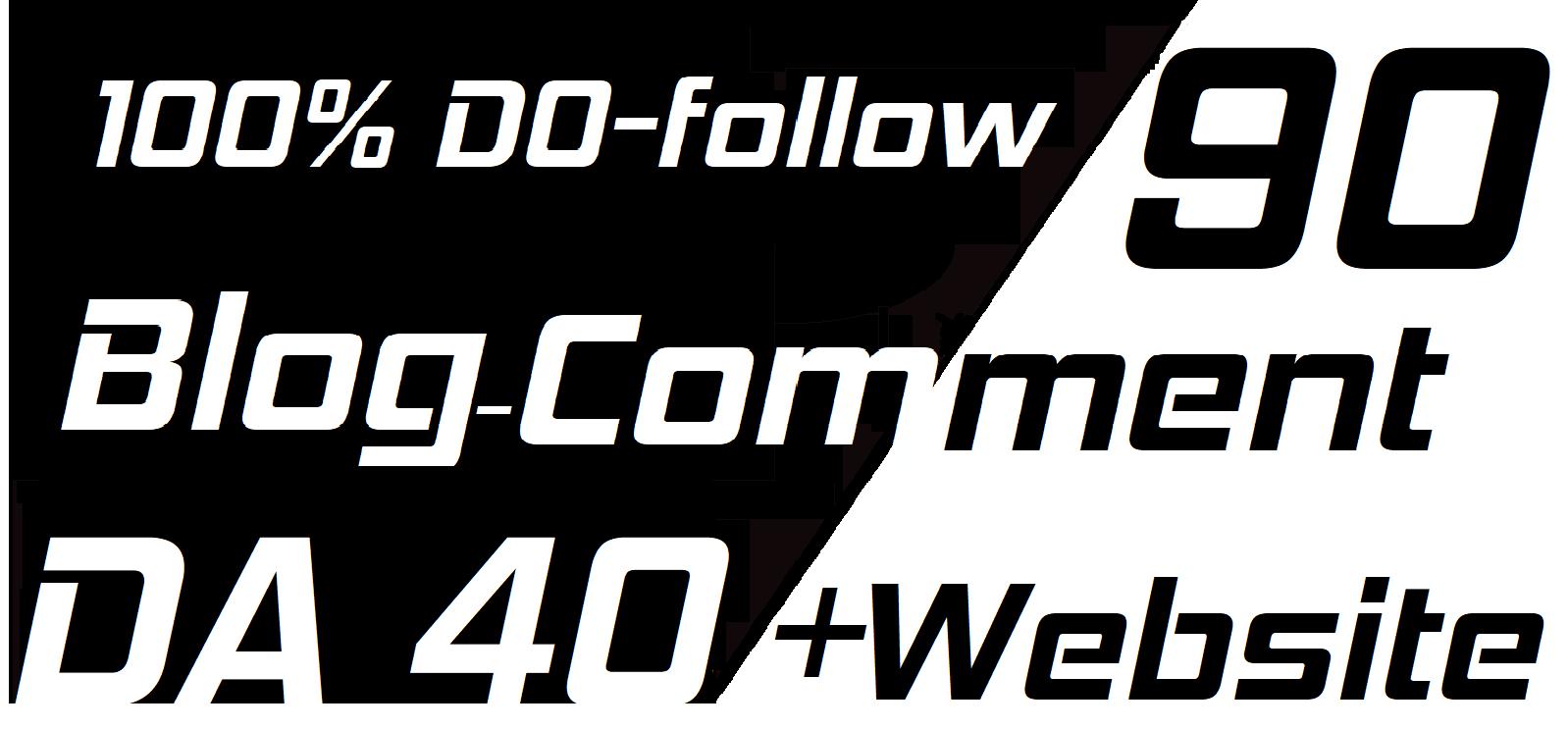 Create 90 Dofollow Blog Comments on DA 40+ websites
