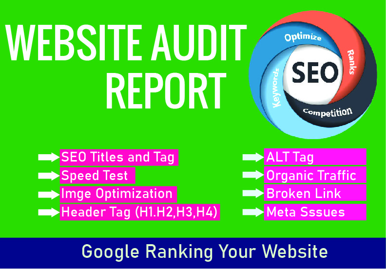 I will Provide you Professional Website SEO Audit Report
